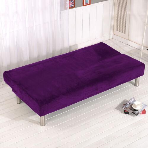 Stretch Armless Plush Sofa Cover Full Folding Sofa Bed Cover Futon Slipcover USA