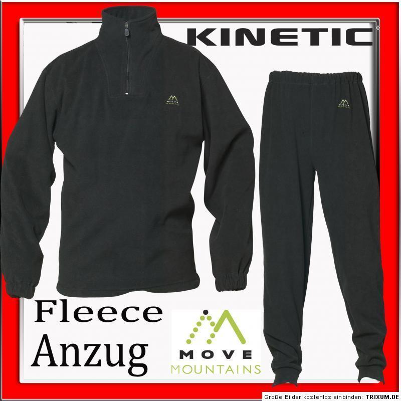 FLEECE WOHLFÜHL ANZUG, (DK), GR.XL, SCHWARZ, KINETIC (DK), ANZUG, WARM + WEICH, TOP + NEU 114e45