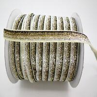 "Hot 5yards 3/8 ""10mm Sparkle Glitter Velvet Ribbon Headband Clips Bow Decoration"