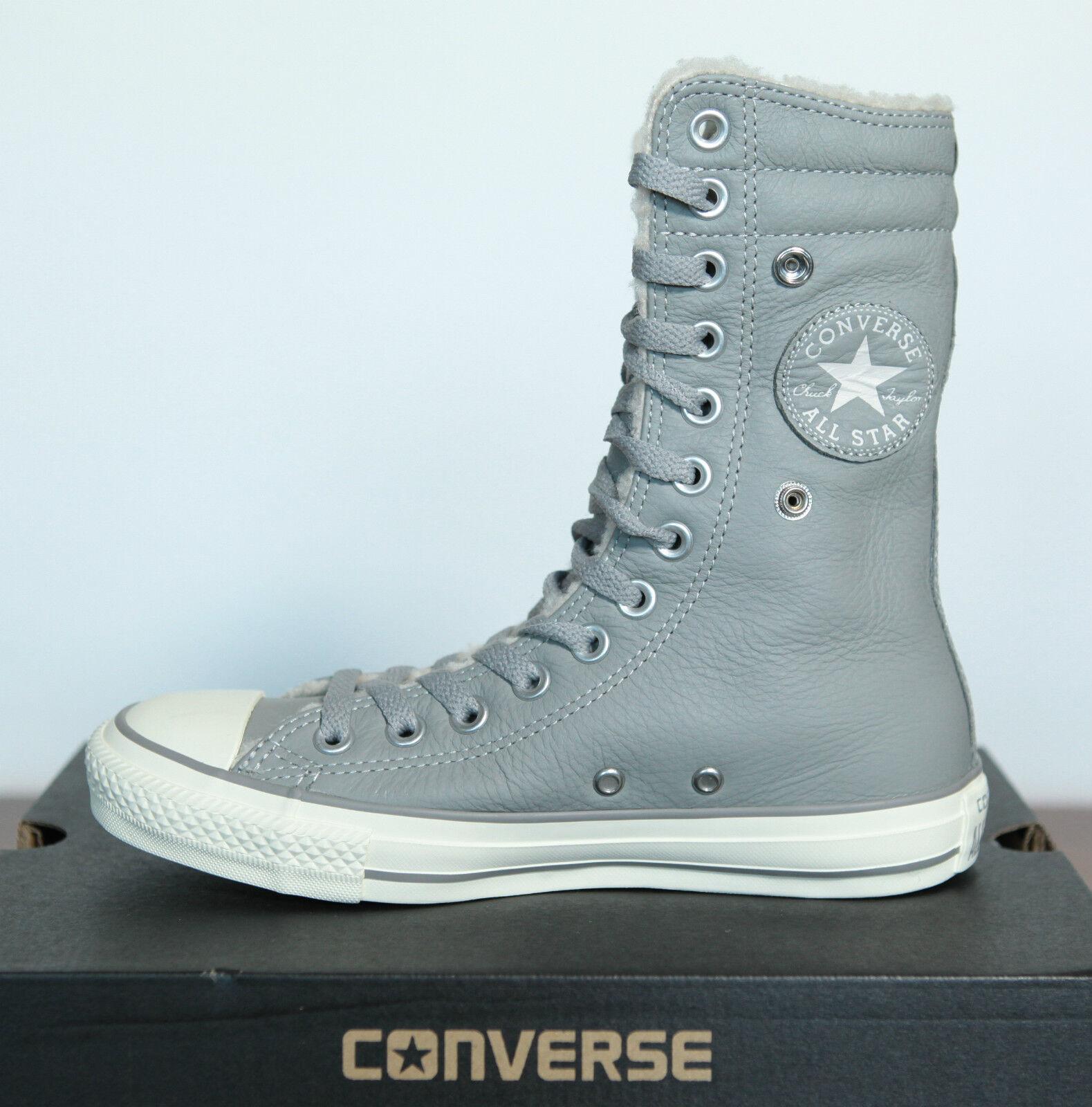 Neu All Star Converse Chucks X Hi Knee Leder gefüttert 540400c Gr.35 UK 3