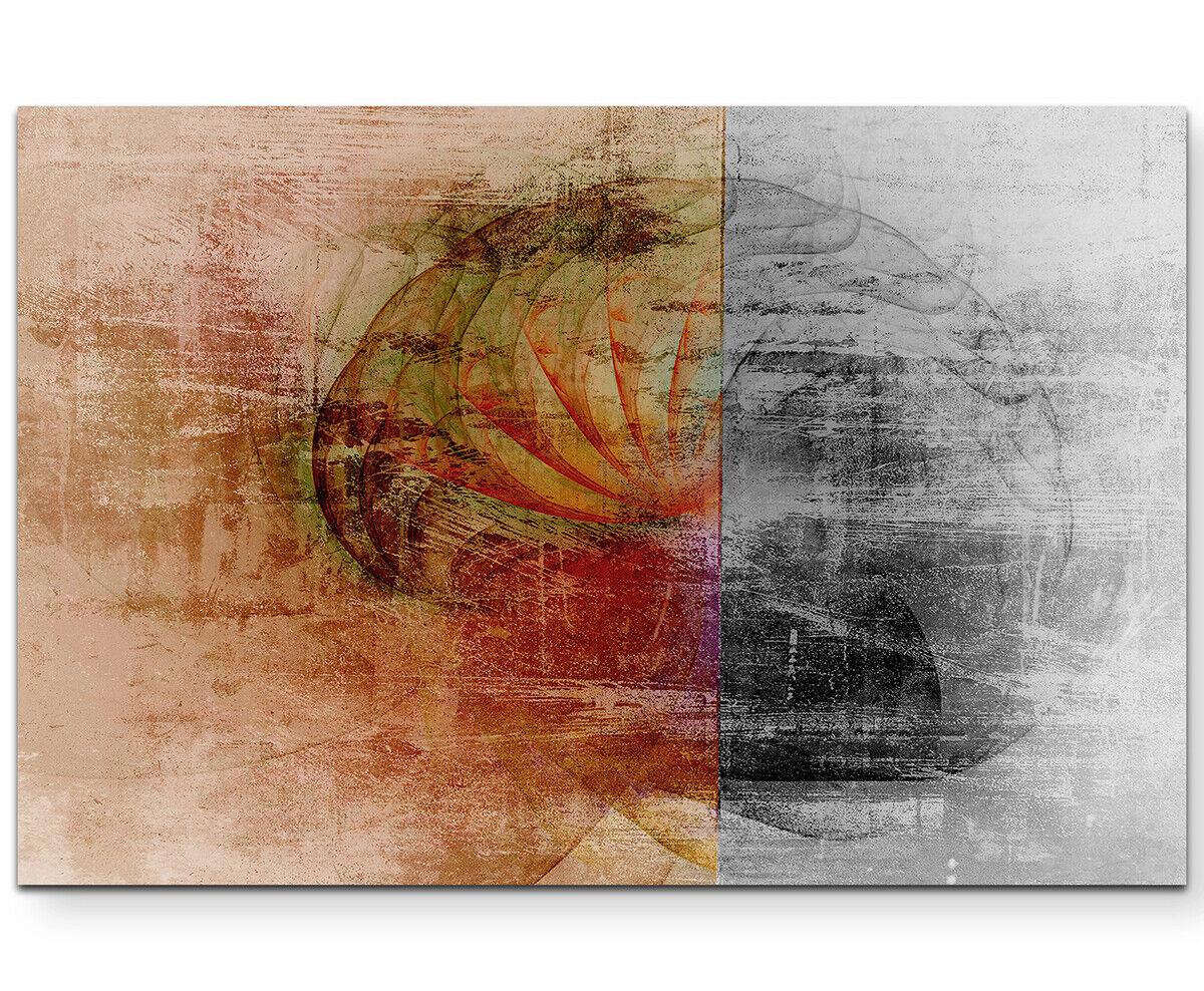 Leinwandbild abstrakt - two sides