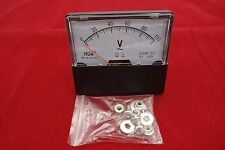 Ac 0 100v Analog Voltmeter Analogue Voltage Panel Meter 6070mm Directly Connect
