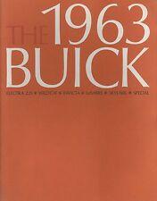 1963 BUICK ELECTRA WILDCAT INVICTA SKYLARK PROSPEKT BROCHURE CATALOGUE ENGLISCH