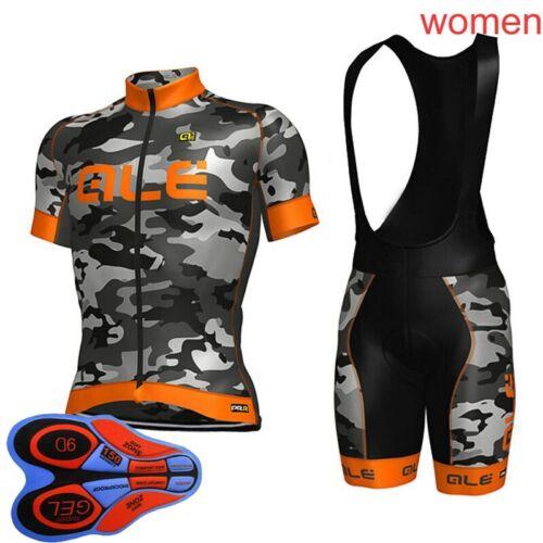 2021 Womens Cycling Jersey Bib Shorts Set Summer Bicycle Outfits Bike Clothing