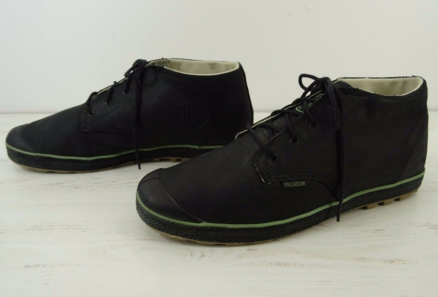 Palladium mens size 14 Shoes Boot Black Leather