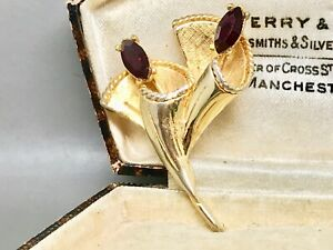 Vintage-Hollywood-Faux-Garnet-High-End-Brooch