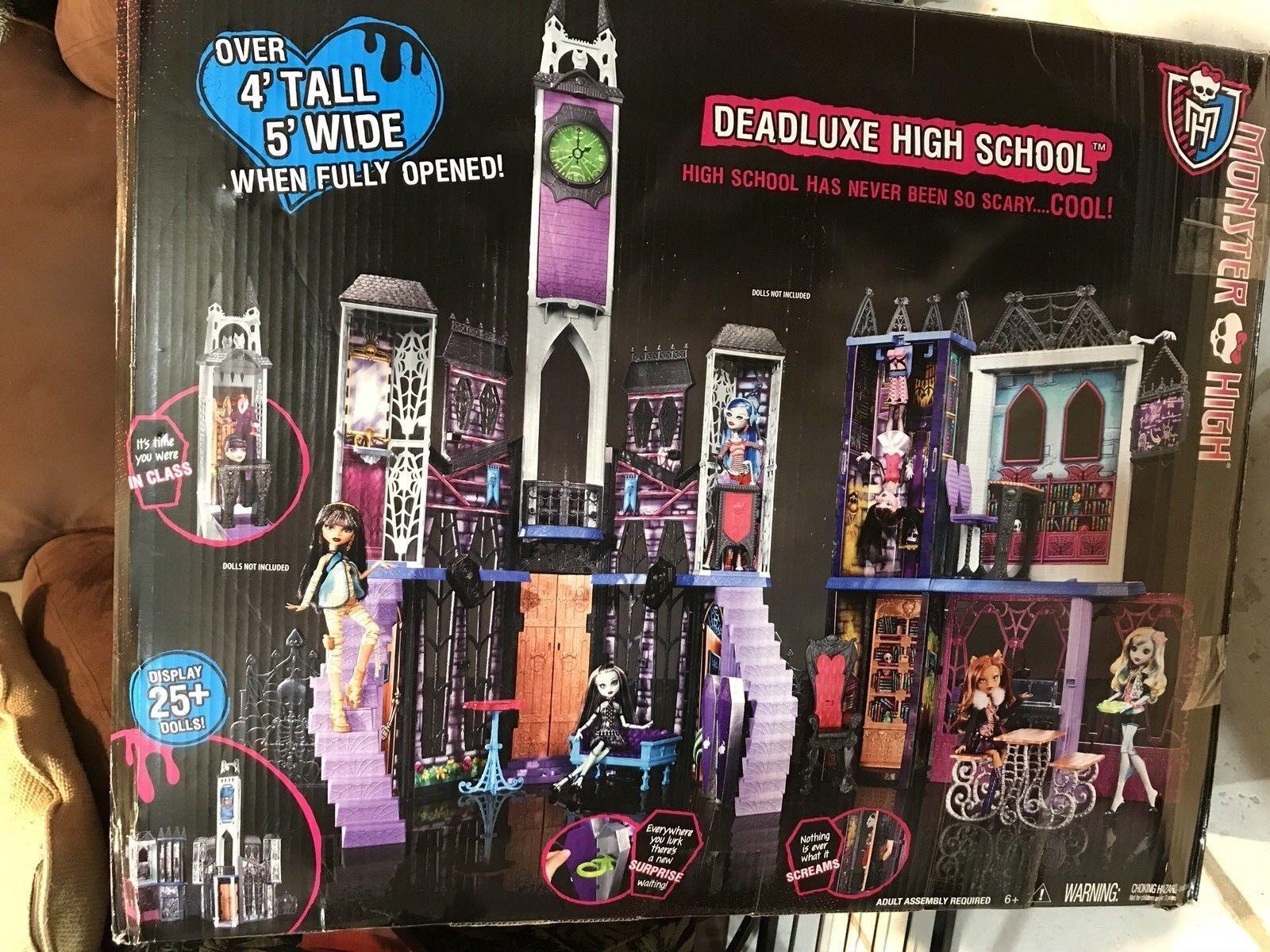 """MONTER HIGH """"DEADLUXE HIGH SCHOOL"""" OVER 4'FEET TALL 5'WIDE COOLEST CLASS EVER"""