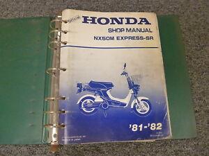 1981 1982 honda nx50m express sr scooter moped shop service repair rh ebay com honda express service manual 1981 honda express owners manual