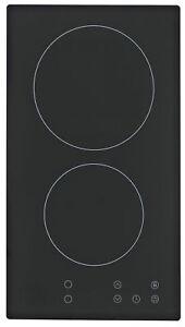 Kochfeld-Einbau-Glaskeramik-Autark-Doppelkochplatte-Doppelkochfeld-Felder-Touch