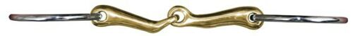 Anatomically Shaped Ls Rng Snaffle; Stainless Rings w//Aurigan Ctr
