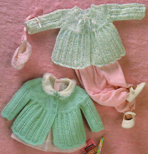 Baby Matinee coats knitting pattern done in Quickerknit or ...