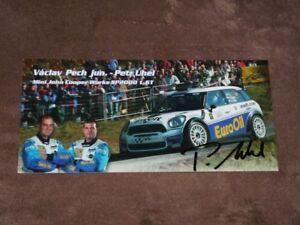 Vaclav PECH jr./Petr UHEL  - original AG P. UHEL, Mini Cooper, Karte/card 10x21