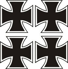 4 x Eisernes Kreuz Aufkleber 5x5cm Sticker IRON CROSS Kreutz  Auto Tuning  Bike
