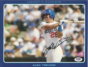 Alex Trevino LA Dodgers Playmakers signed 8x10 stat photo PSA/DNA # P97691