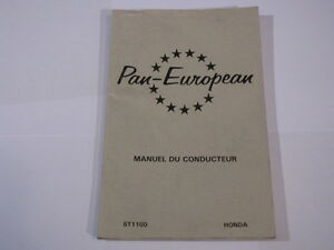 HONDA-ST1100-ST1100-1991-PAN-EUROPEAN-PAN-EUROPEAN-MANUEL-DU-CONDUCTEUR