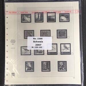 GéNéReuse Suisse Safe Dual 2366 Collectif L'année 2007 Feuilles De 159-162-afficher Le Titre D'origine Valeur Formidable