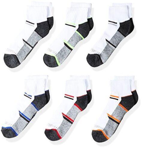 6 Paire Demi Coussin socquettes Shoe-Choisir Taille//couleur. Fruit of the loom big boys
