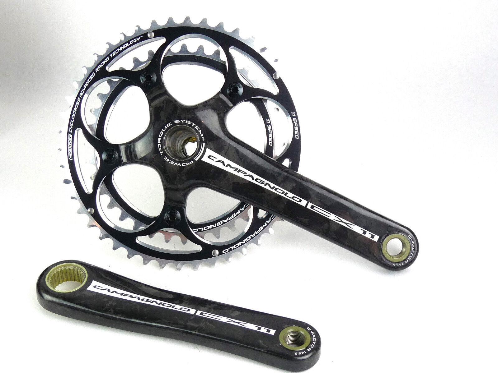 Campagnolo CX Bielas de carbono 175mm 46 36 11 Velocidad Ciclocross Nuevo