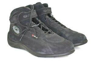 Sidi-Silga-Stivali-Men-039-s-Black-High-Top-Motorcycle-Riding-Shoe-Boots-Size-11