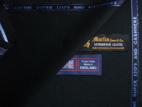 -5.1 M 98/% Lana Super 130/'s y 2/% Cachemir satisfaciendo Tela Por Martin Sons /& Co