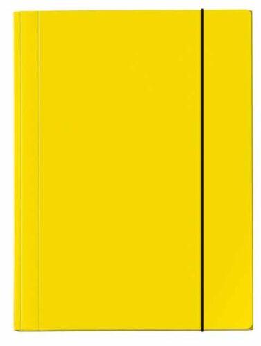 Sammelmappe PP A4 15mm Velocolor gelb Gummizug