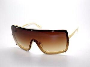 91a2f42d803c Dita Raygun 23003B S.18K Gold-Bone D.Brown Clear Titanium Sunglasses ...