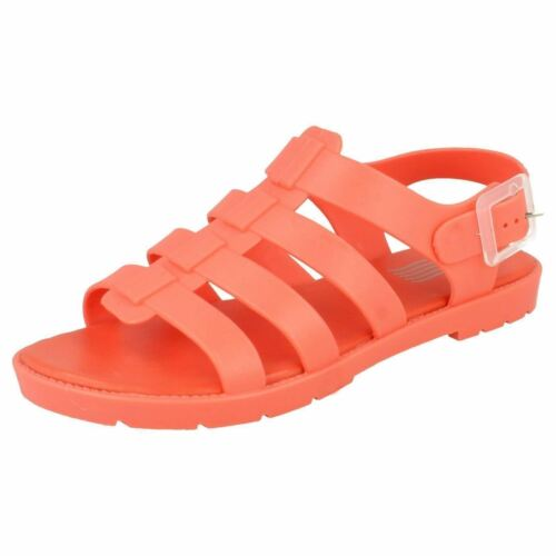 Waves F0R837 Ladies Coral PVC//Jelly Sandals R29A