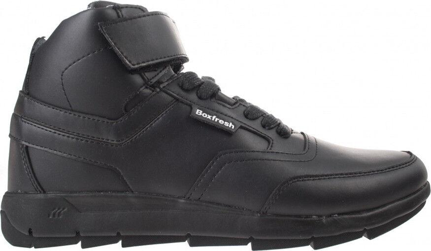 Nuevo Boxfresh Ampton lavarte Leather gr 45 us 12 negro negro cortos de cuero High