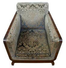 art deco antique deco wooden chair swivel