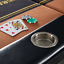 Barrington Portable 10-Player Texas Hold Em Poker Table No Assembly Required