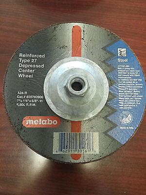Metabo Grinding Wheel Reinforced Type 27 Depressed Center Wheel 7x1//4x5//8-11