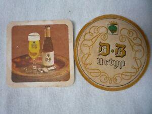 2 oude bierviltjes  D.B.   URTYP                   /