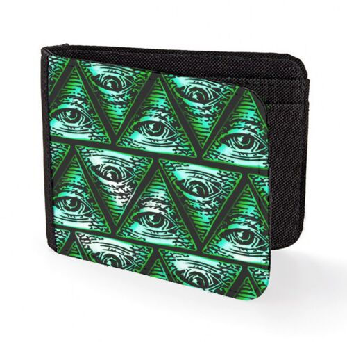 illuminati wallet credit card classic art print conspiracy all seeing eye nwo