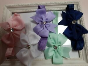 PREMATURE-BABY-HANDMADE-HEADBANDS-PRETTY-FOR-THE-TINY-BABE-BOWS-WITH-STONE