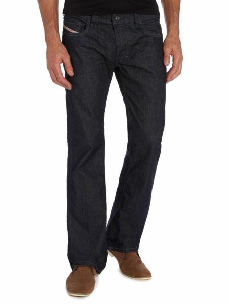** Nuovo Con Etichette Diesel Jeans Bootcut Zatiny Lavaggio W31 L30 Codice 0088z 31w 30l **