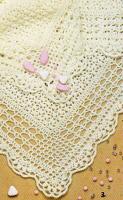 Crochet baby Christening Shawl done in 4ply wool- Crochet ...