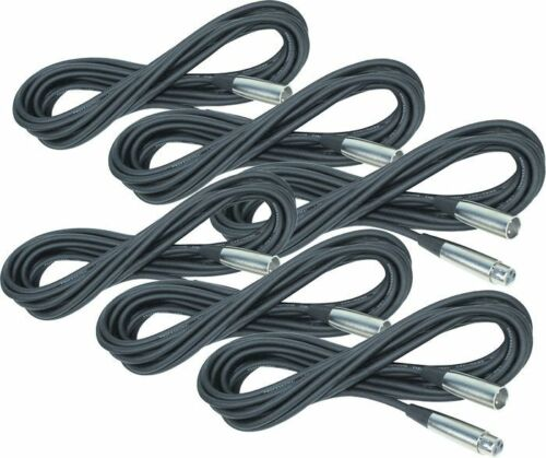 Rapco Horizon SMM-20 StageMaster Microphone Cables 6 PACK XLR Male to XLR Female