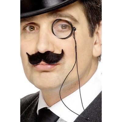 Treu Monokel Kostüm Zubehör Opernglas Sehhilfe Alte Brille Einglas Mit Brillenband Gute QualitäT