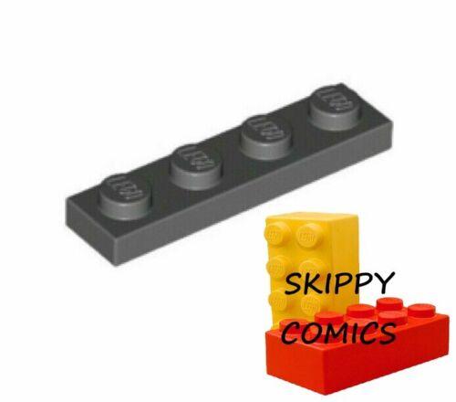 4211001-3710 Lot x10 Lego Plaque 1x4 GRIS F//D GREY plate