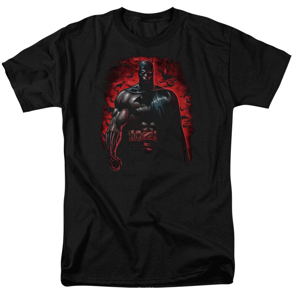 Batman rot Sky KNIGHT Flying Bats Licensed Adult T-Shirt All Größes