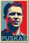 FERENC PUSKAS ART PHOTO PRINT (OBAMA HOPE) POSTER GIFT Puskás HUNGARY SOCCER