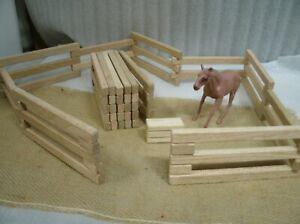 Toy-Wood-Oak-Barn-Yard-Fence-Works-Perfect-With-Schleich-Breyer-Horse