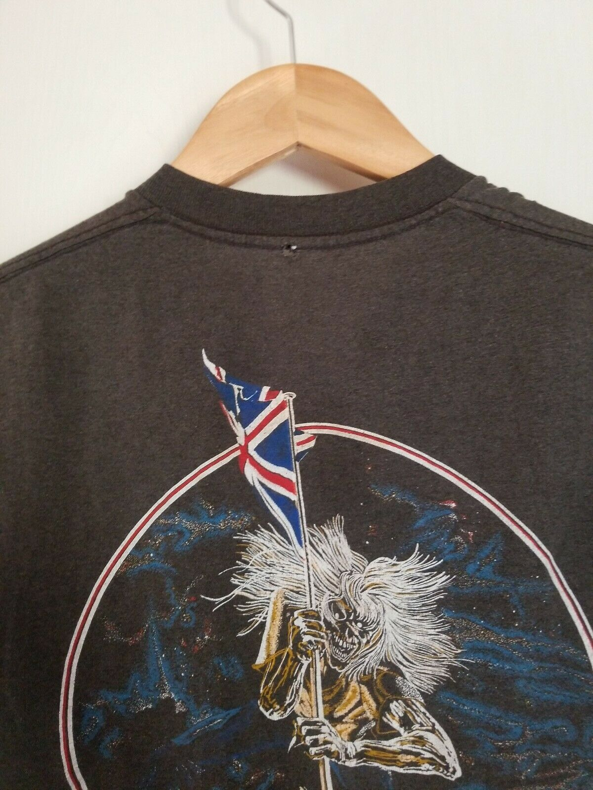 Vintage 80s Iron Maiden Small T-shirt Killers Wor… - image 10