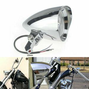 "Chrome Bullet  4.5""  Headlight 4 Yamaha Virago Xv 250 535 750 1100 Road Star"