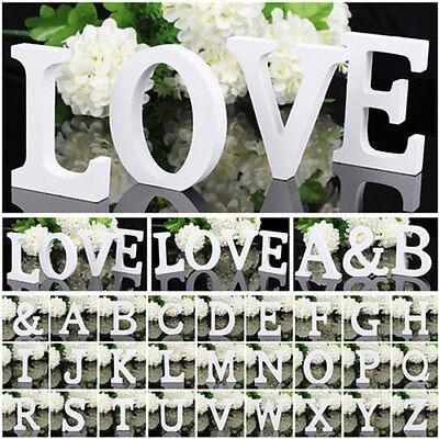 Wood Wooden White Letter Alphabet Letter  Birthday Wedding Fashion Decorations