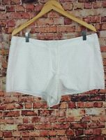 Mssp Max Studio Specialty Product White Eyelet Shorts Size 12
