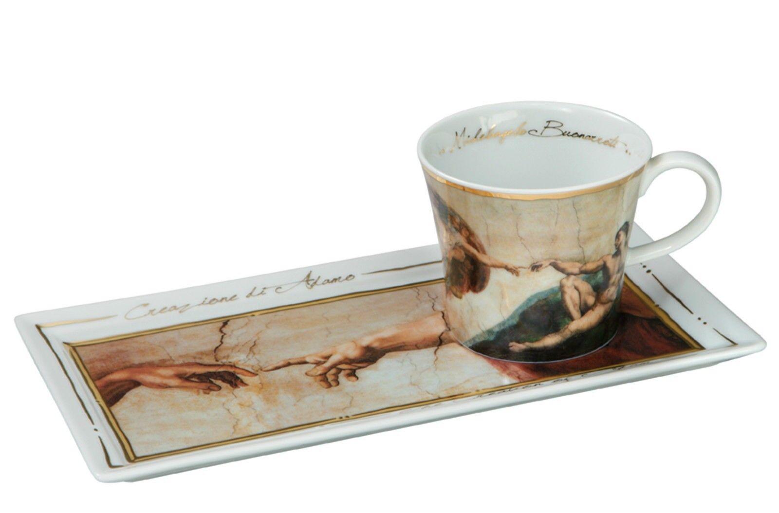 GOEBEL PORZELLAN - - - Kunst & Kaffee -  Michelangelo - Die Erschaffung Adams  NEU | Online-Shop  e063f0