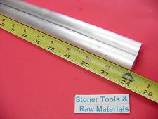 """2 pieces 5//8/"""" ALUMINUM 6061 ROUND ROD 24/"""" LONG T6511 .625 Solid Lathe Bar Stock"""