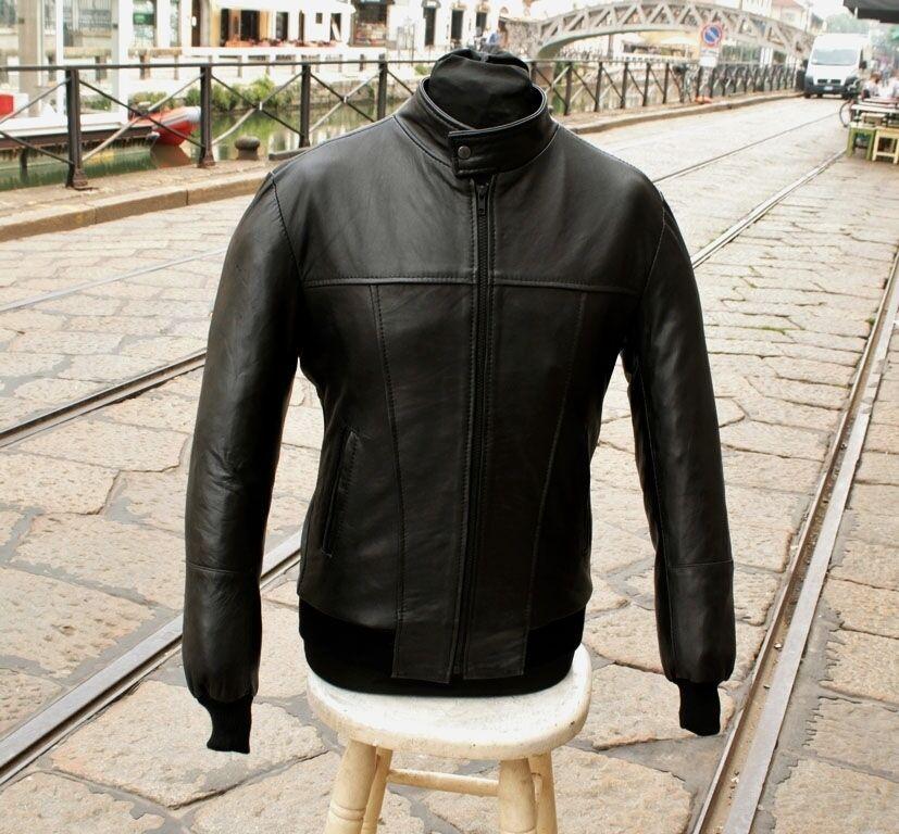 Giubbotto in giacca pelle bomberino coreano in Giubbotto vera pelle made in italy slim fit 9b96c4