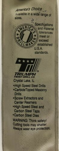"Triumph 5//32/"" x 3/"" Long #38410 Helix Carbide Tipped Masonry Drill Bit"